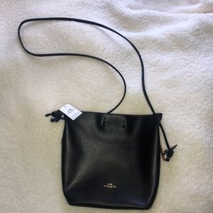 Authentic coach derby crossbody black